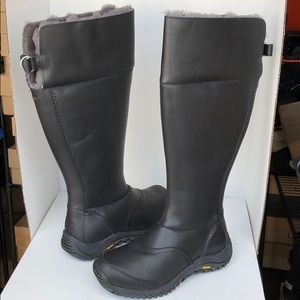 🎁New Ugg Miko Black tall leather boots sz 8.5